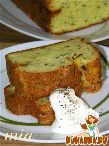 Рецепт Пирог с цуккини и сыром Пекорино (Zucchini-Pecorino-Kastenkuchen)