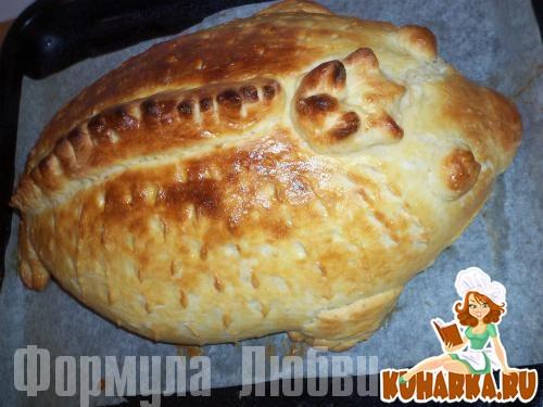 """Рецепт Рыбный пирог (""""Рыбник"""")."""