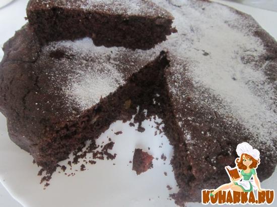 Рецепт Постный шоколадный манник