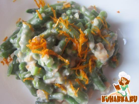 Рецепт Зеленая фасоль в ореховом соусе