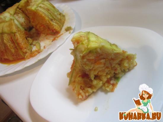 Рецепт Кабачковая запеканка с рисом