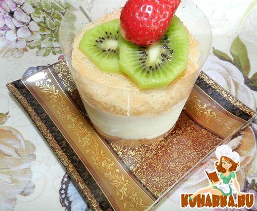 Рецепт Порционные десерты кадаиф с лимонным патисьером