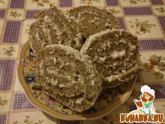 Рецепт Кофейный рулет с кокосом