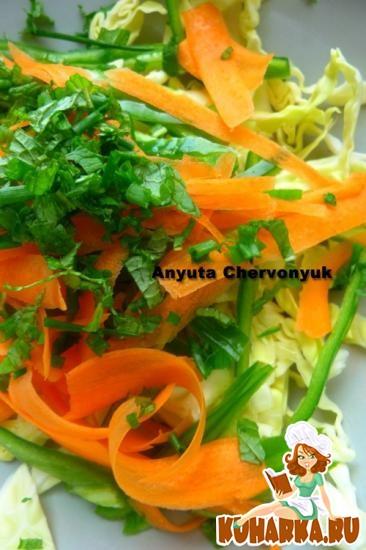 Рецепт Азиатский острый капустный салат.