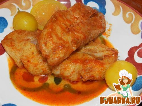 Рецепт Храйме-рыба по-триполитански в пикантном соусе