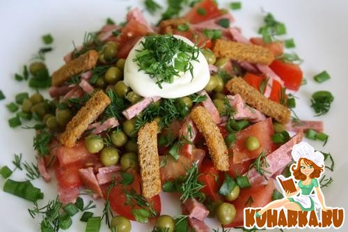 Салат из кириешекы