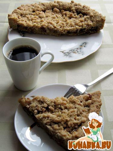 Рецепт Овсяный пирог с яблочно-финиковой начинкой
