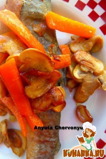 Рецепт Рыба с шампиньонами в эскабече.