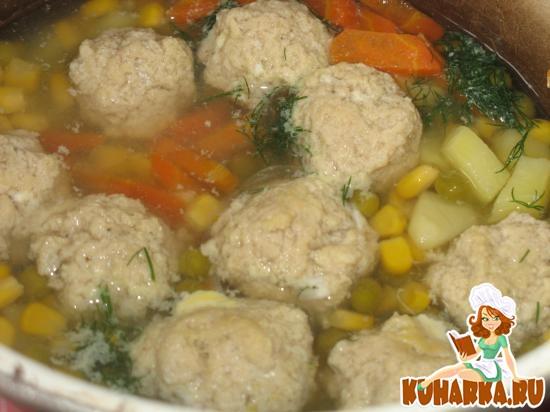 Рецепт Детский мясной суп