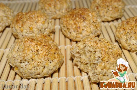 Рецепт Овсяное печенье с кофе и цедрой лимона