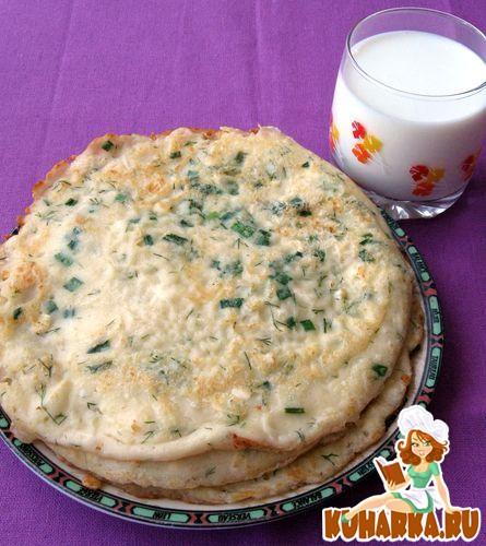 Рецепт Блины с брынзой и зеленью