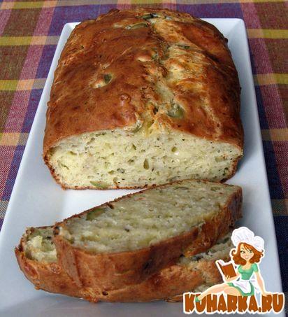 Рецепт Сырный кекс с оливками на белом вине