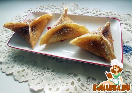 Рецепт Блины-треугольники по марокански (вариация) с карамельными яблоками
