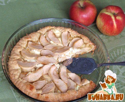 Рецепт Галета с яблоками, медом и козьим сыром