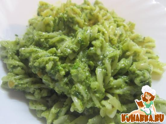 Рецепт Паста с зеленым рагу