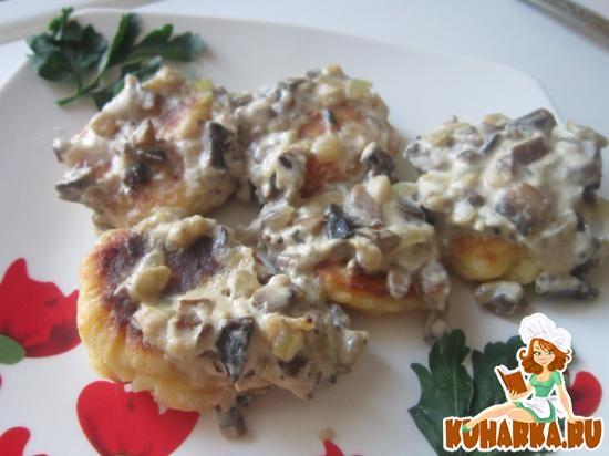 Рецепт Картофельные тефтели под грибным соусом