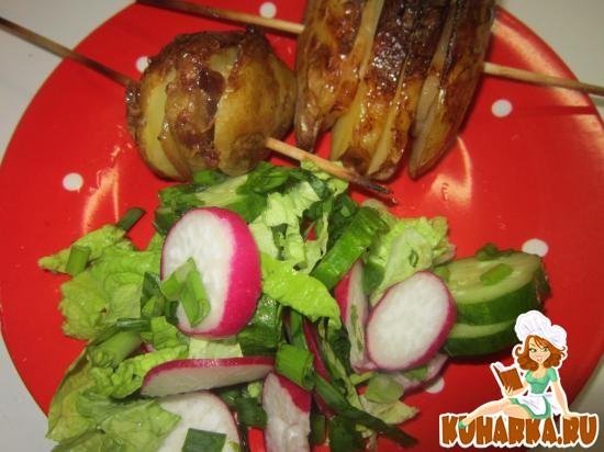 Рецепт Шашлык из картошки