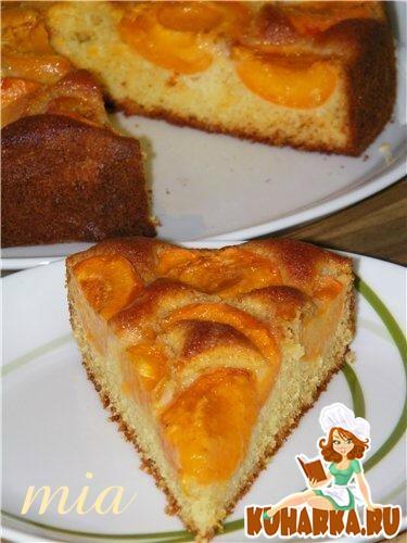 Рецепт Абрикосово-сливовый пирог с марципаном (Aprikosen-Pflaumen-Marzipan-Kuchen)