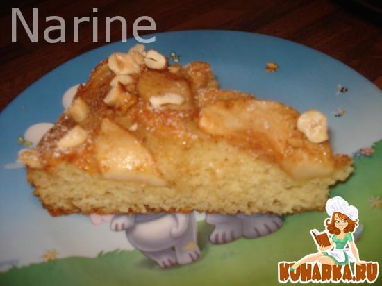 Рецепт Манник с карамелизованными яблоками