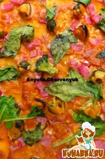 Рецепт Пицца с мидиями.
