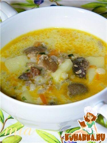 Рецепт Суп грибной с перловкой