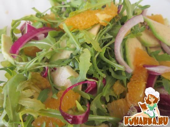 Рецепт Салат из авокадо и апельсинов