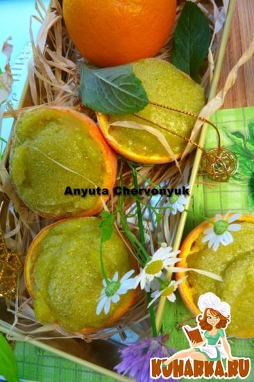 Рецепт Мангово-апельсиновый сорбет с мятой.