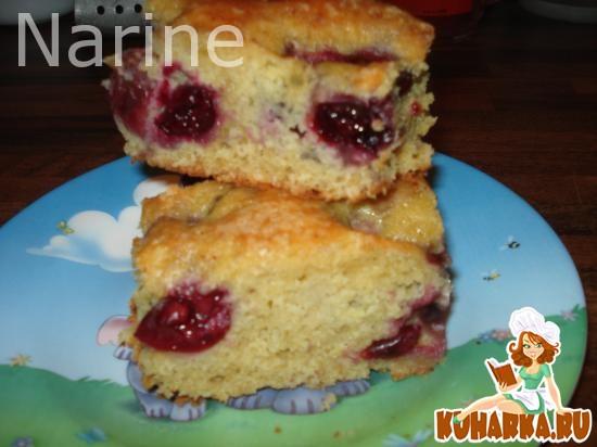 Рецепт Творожный пирог с черешней