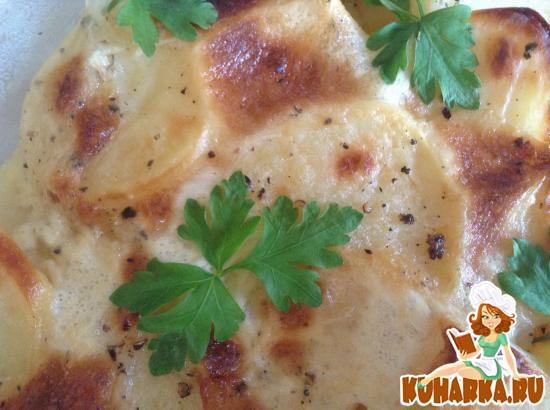 Рецепт Картофель, запеченный с молоком и чесноком