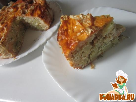 Рецепт Пирог из лаваша с сулугуни и картошкой