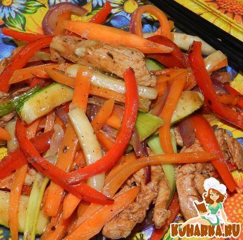 Рецепт Курица с овощами в китайском стиле