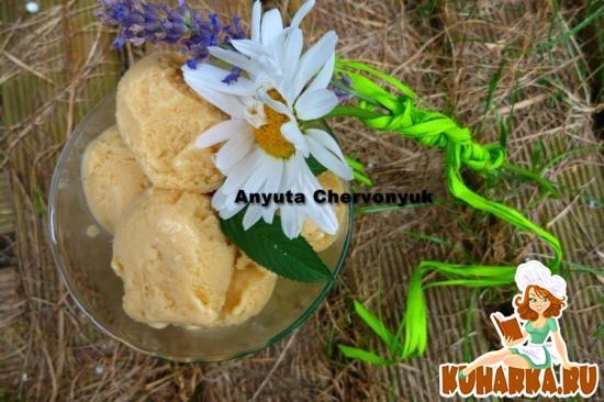 Рецепт Медовое мороженое на козьем молоке.
