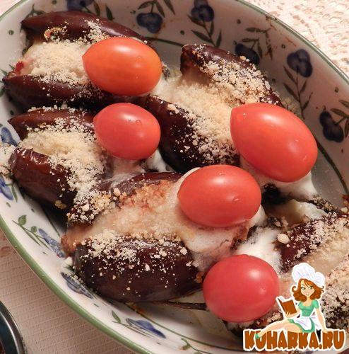 Рецепт Овощная закуска в баклажановых лодочках