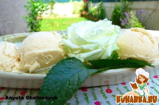 Рецепт Ванильное мороженое.