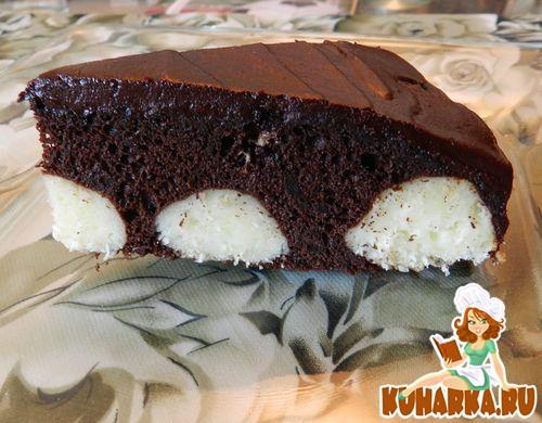 Рецепт Вкуснейший пирог с творожными шариками