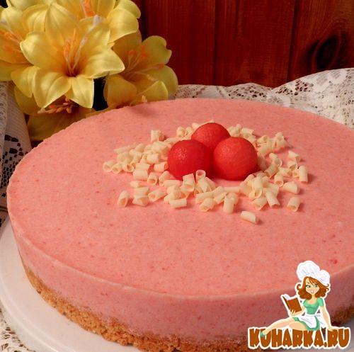 Рецепт Арбузный шифоновый торт