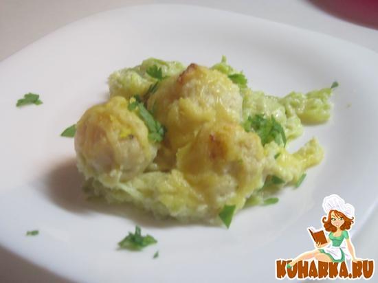Рецепт Кабачок с куриными фрикадельками