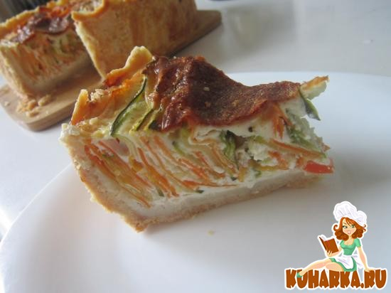 Рецепт Пирог с морковью и цуккини