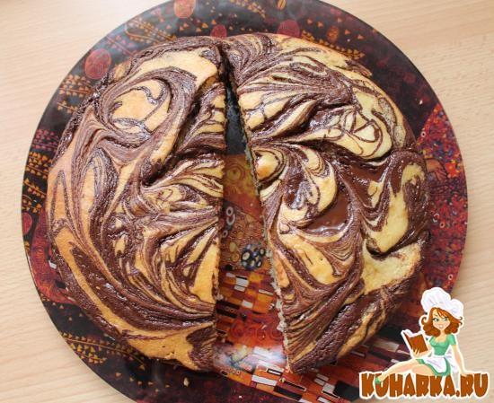 Рецепт Мраморный пирог с солью