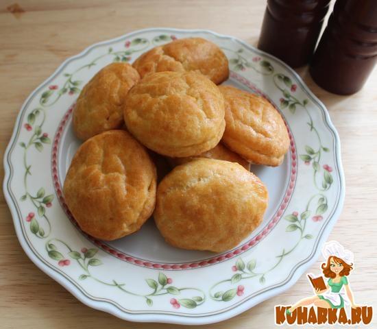 Рецепт Пирожки с сыром из слоеного творожного теста