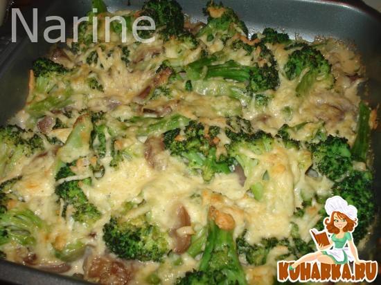 Рецепт Грибы с брокколи