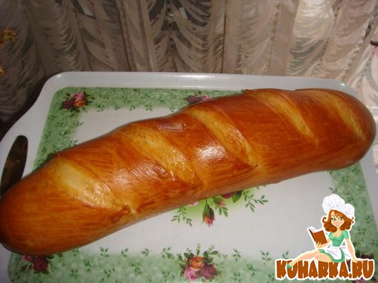 Рецепт Батон пшенично-молочный