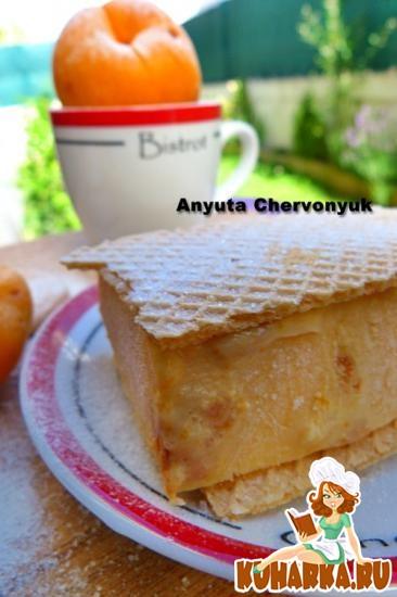 Рецепт Абрикосовое мороженое с Амаретти.
