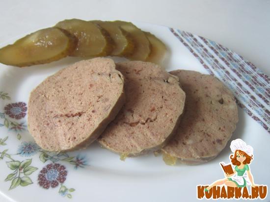 Рецепт Домашняя ливерная колбаса из курицы и печени
