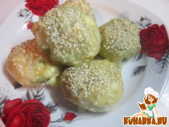 Рецепт Кабачки в клубочке