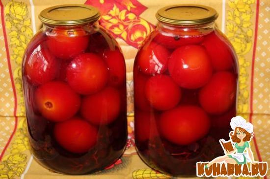 Рецепт Помидоры консервированные с виноградом