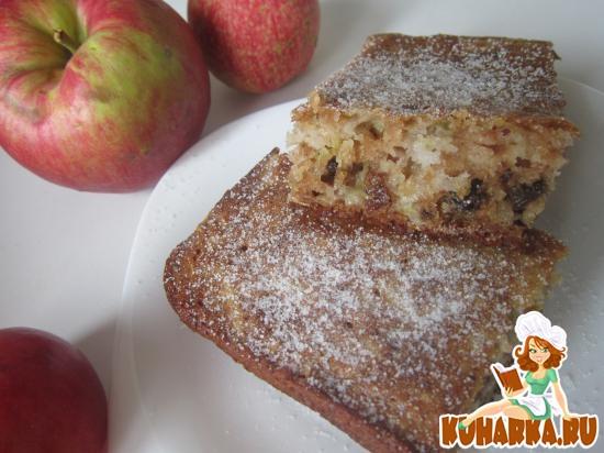 Рецепт Кекс с яблоками и орехами