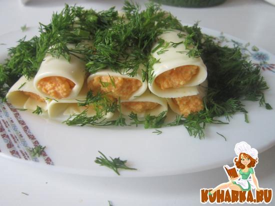 Рецепт Закусочные сырные трубочки