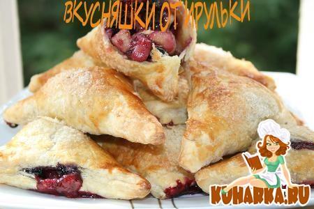 Рецепт Слоечки с фруктово- ягодным ассорти