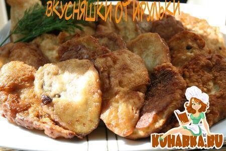 Рецепт Баклажаны в сырном кляре